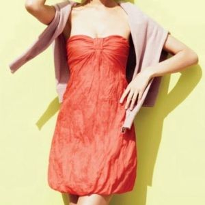 J Crew Astin Crinkle Cotton Bubble Strapless Dress